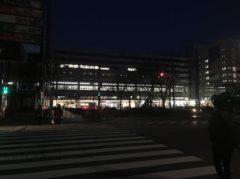 まだ真っ暗の博多駅