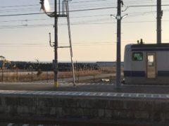 富岡駅到着