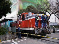 ディーゼル機関車が走っていたところは…