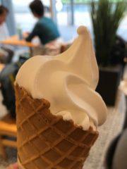 丹那牛乳を使ったソフトクリーム