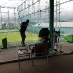 ゴルフの打ちっぱなしへ…