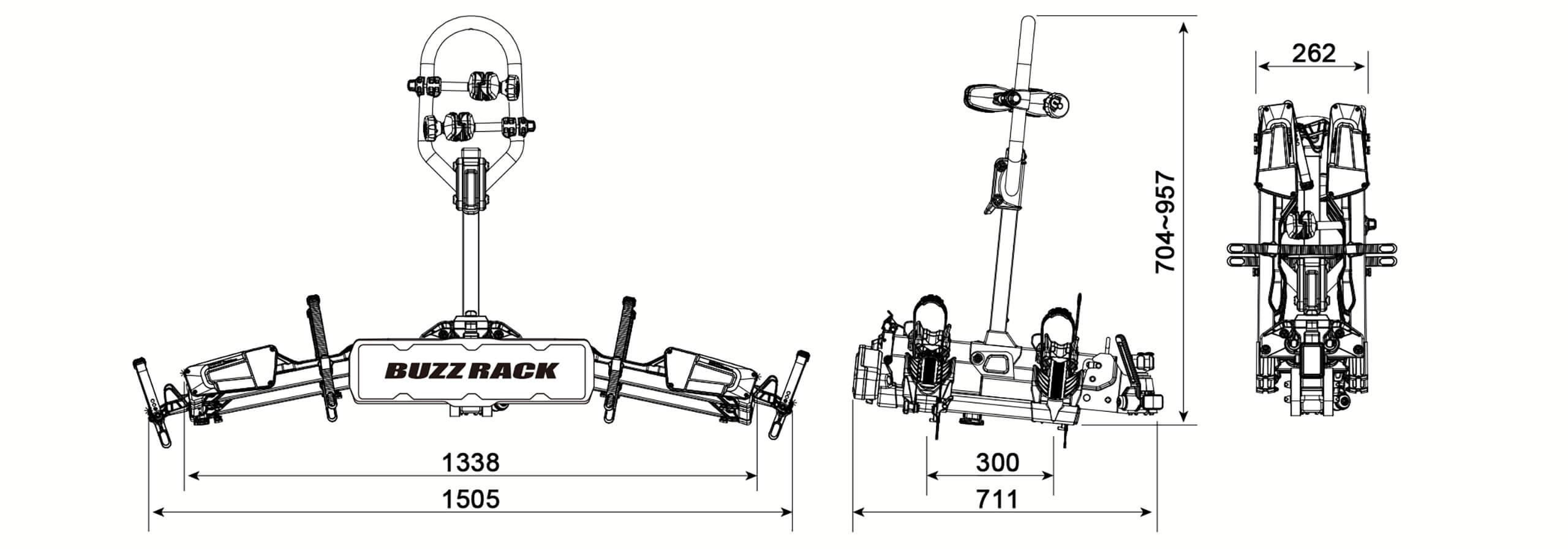 Buzz Rack E Scorpion 2 Bike Folding Rack No Brp612