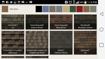 GAF Roof Shingles Colors APP 1