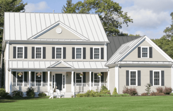 Standing Seam White Metal Roof