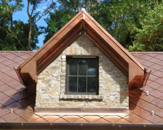 Decorative copper dormers