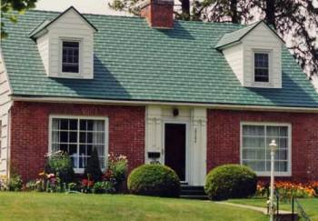 Green Roof Shingles on a Traditional Home