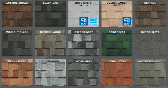 Highlander Architectural Shingles Colors