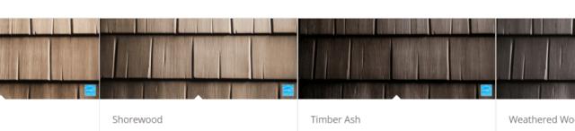 Matterhorn Metal Wood Shake Colors