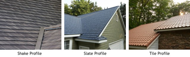 Matterhorn Metal Shingles Profiles - wood shake, slate, clay tile