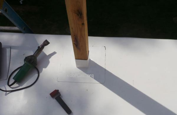 PVC deck on a flat roof - post penetration
