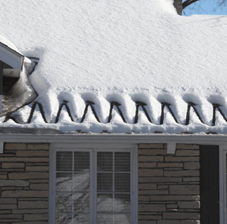 Roof deicing cables