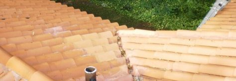 Clay tile roof inspection in Miami, FL.