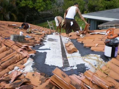 Clay tile roof repair in Miami Lakes