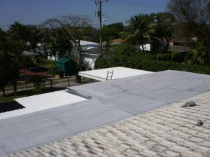 Flat Roof in Miami Springs Complete