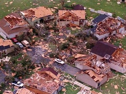 Hurricane Andrew damage