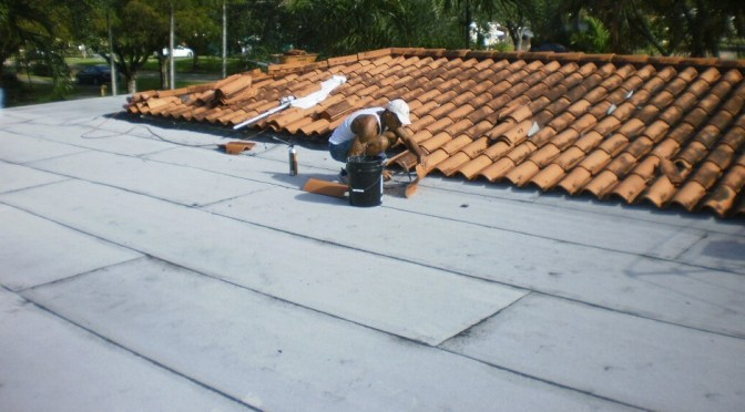 Low-slope roofing in Miami Springs