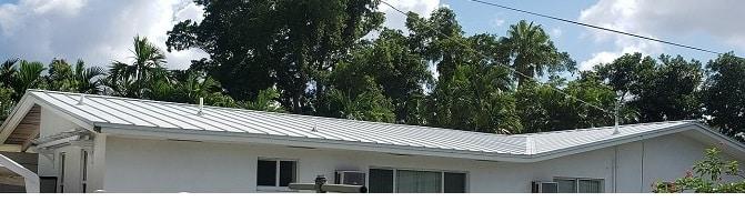 Metal roof in Miami Springs