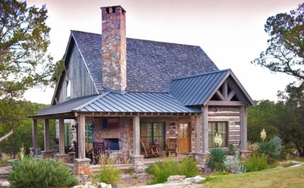 A beautiful cabin with combination roof