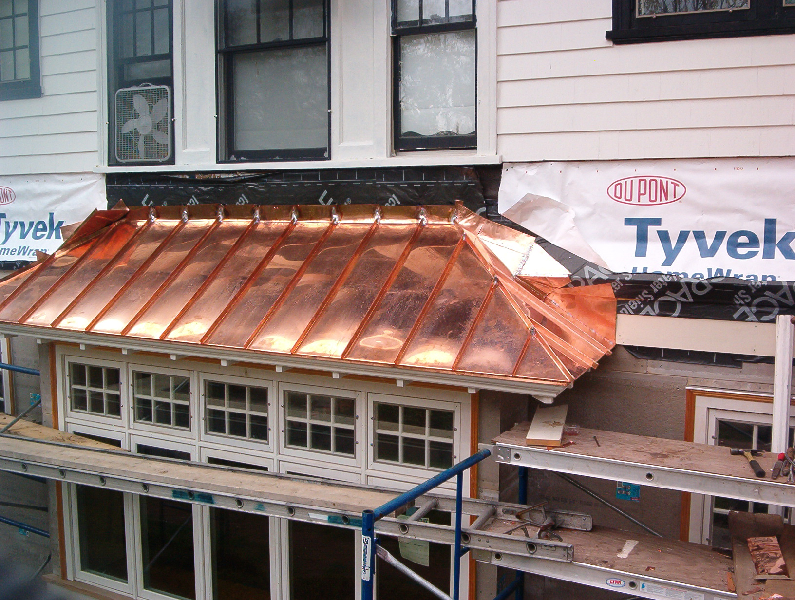 Bow Window Copper Roof By Castle Slate Roofing
