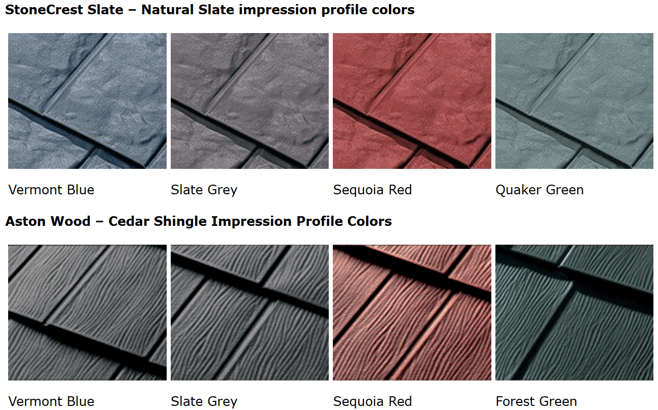 Metal roof colors how to select the best color for a new for Names of roofing materials