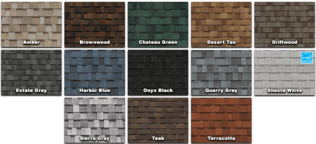 Owens Corning Shingle Colors