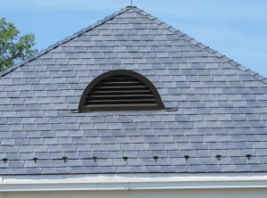 Bellaforté Slate composite roofing in Smokey Gray was installed on the 117,668-square-foot hospital.