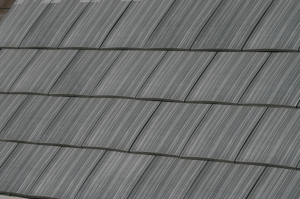 Ply Gem Roofing Engineered Cedar is made using a proprietary polymer formulation—with nearly 100 percent recycled resins—and laser-engraved into molds.