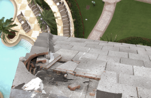 A lightning strike on a hotel on Marco Island, Fla., shattered concrete roof tiles and created a hazard to people and facilities 10 stories below. A fire could have resulted if the building had a wood frame instead of a non-combustible structure.