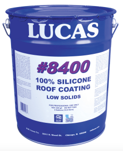 R.M. Lucas Co. has added #8400 100 percent Silicone Roof Coating to its line of products.