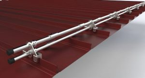 DualGard snow-retention system protects people and property from dangerous roof-snow avalanches.