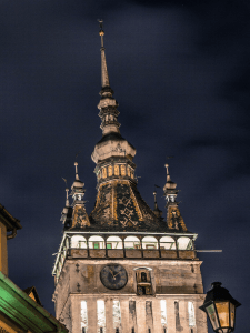 Photo 20. The Clock Tower in Sighișoara with enameled clay roof tiles. Photo: Mihai Răducanu.