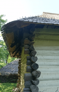 Photo 9. This building in Moldova is covered with wooden shingles made of fir, affixed with wooden nails made of yew. Village Museum in Bucharest. Photo Ana-Maria Dabija.