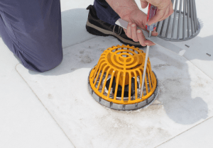 OMG Roofing Products introduces the Vortex Breaker Strainer Dome
