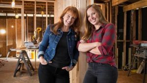 "Karen E Laine (left) and Mina Starsiak, home renovation experts and the hosts of HGTV's ""Good Bones,"" helped unveil the selection of the 2018 Shingle Color of the Year."