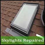 skylight leak repair Withams VA