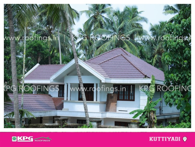 meroon colour roof tile