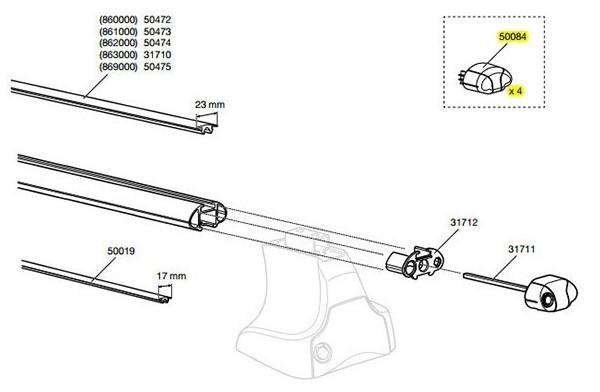 spare parts for thule aero bars