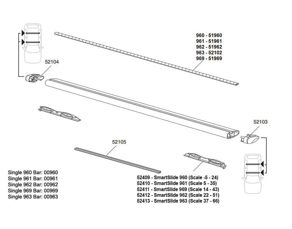 spare parts for thule wing bars