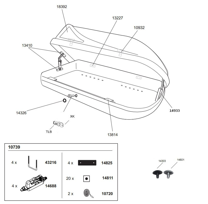 spare parts for thule ocean roof boxes