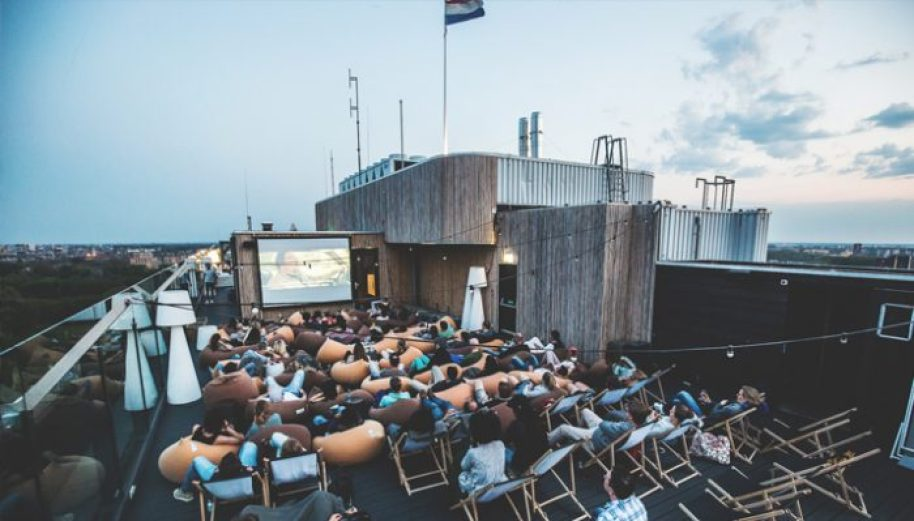 outdoor cinema on rooftop - things to do in amsterdam