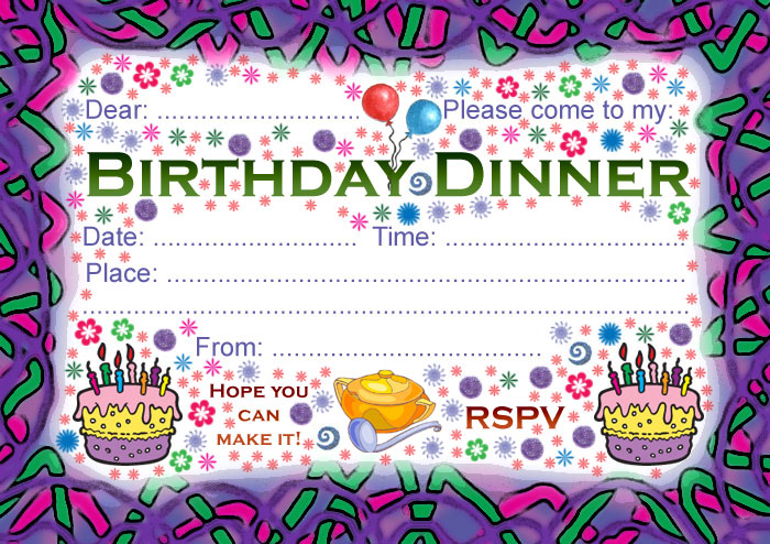 Birthday Dinner Party Invitation Rooftop Post Printables