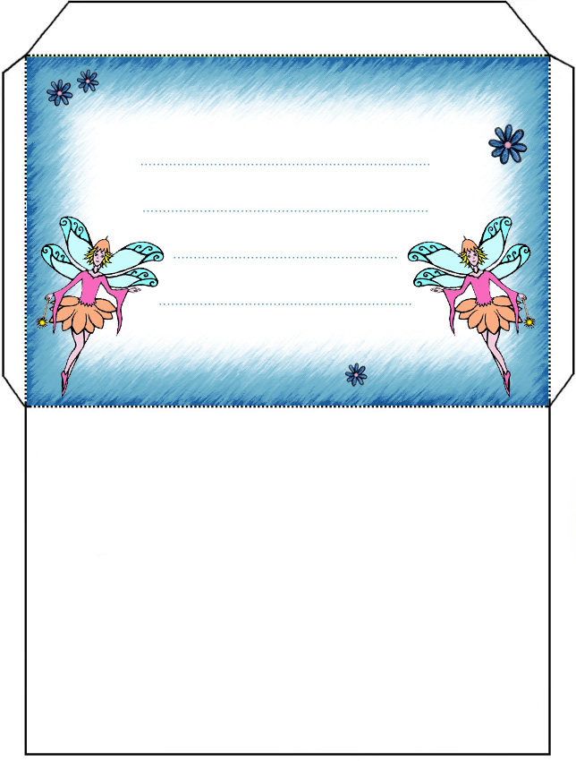 Twin Fairy Envelope Rooftop Post Printables