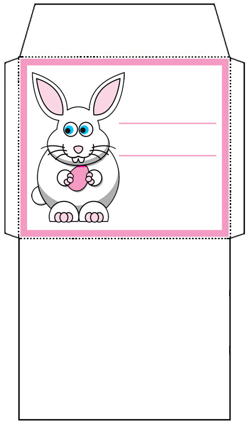 Mini Easter Bunny Envelope Pink Rooftop Post Printables