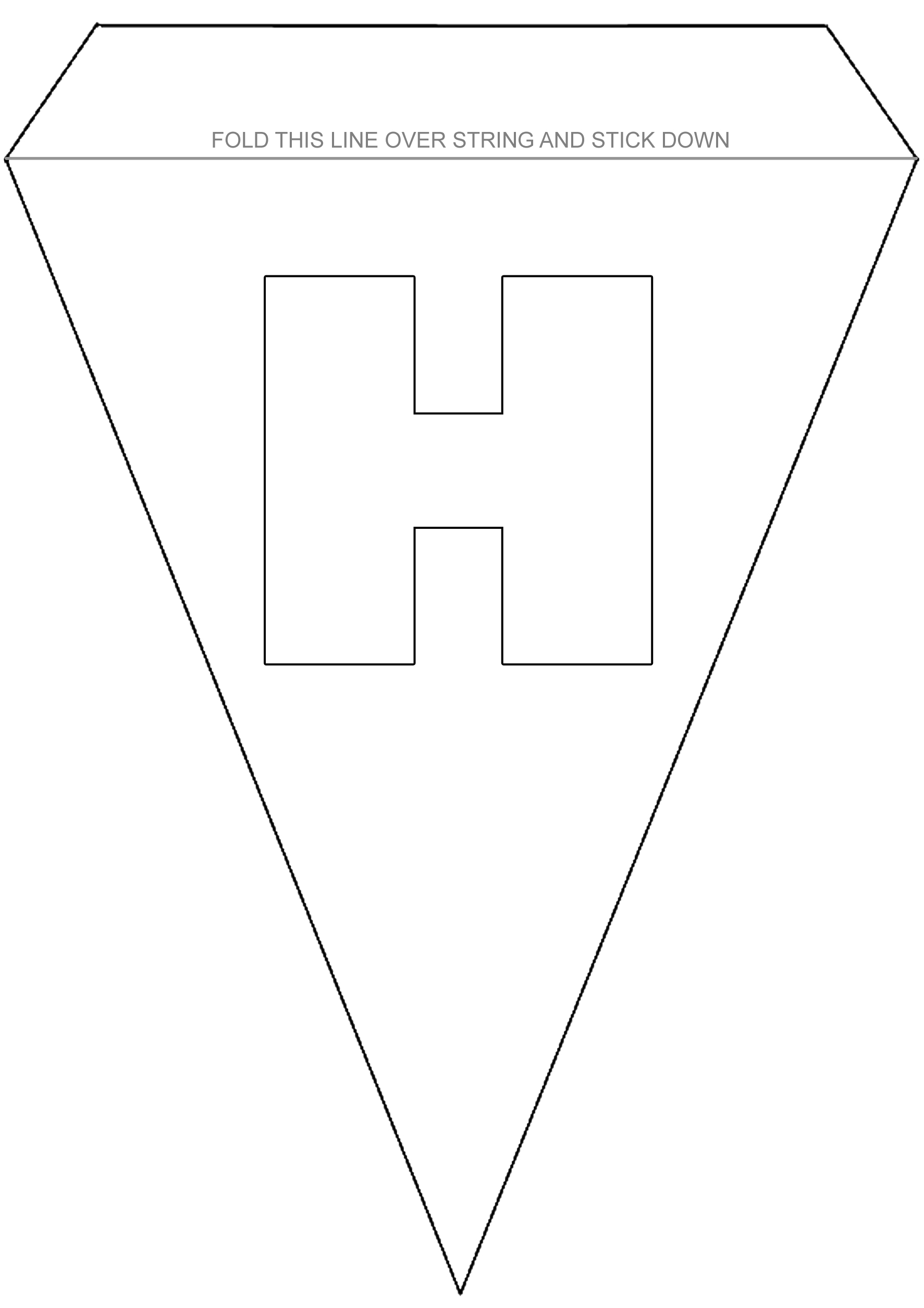 Alphabet Bunting To Colour Letter H