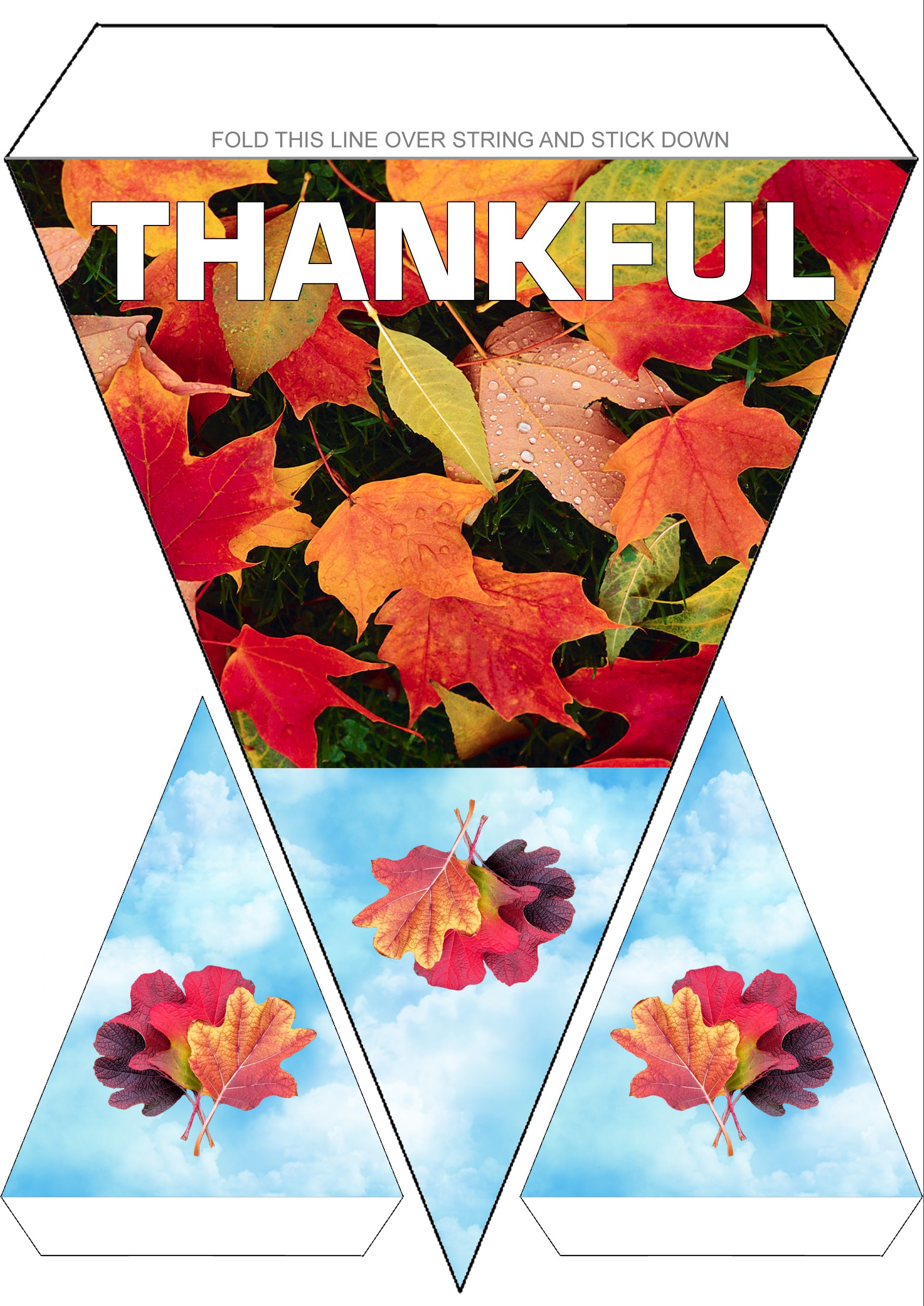Thanksgiving Bunting Thankful