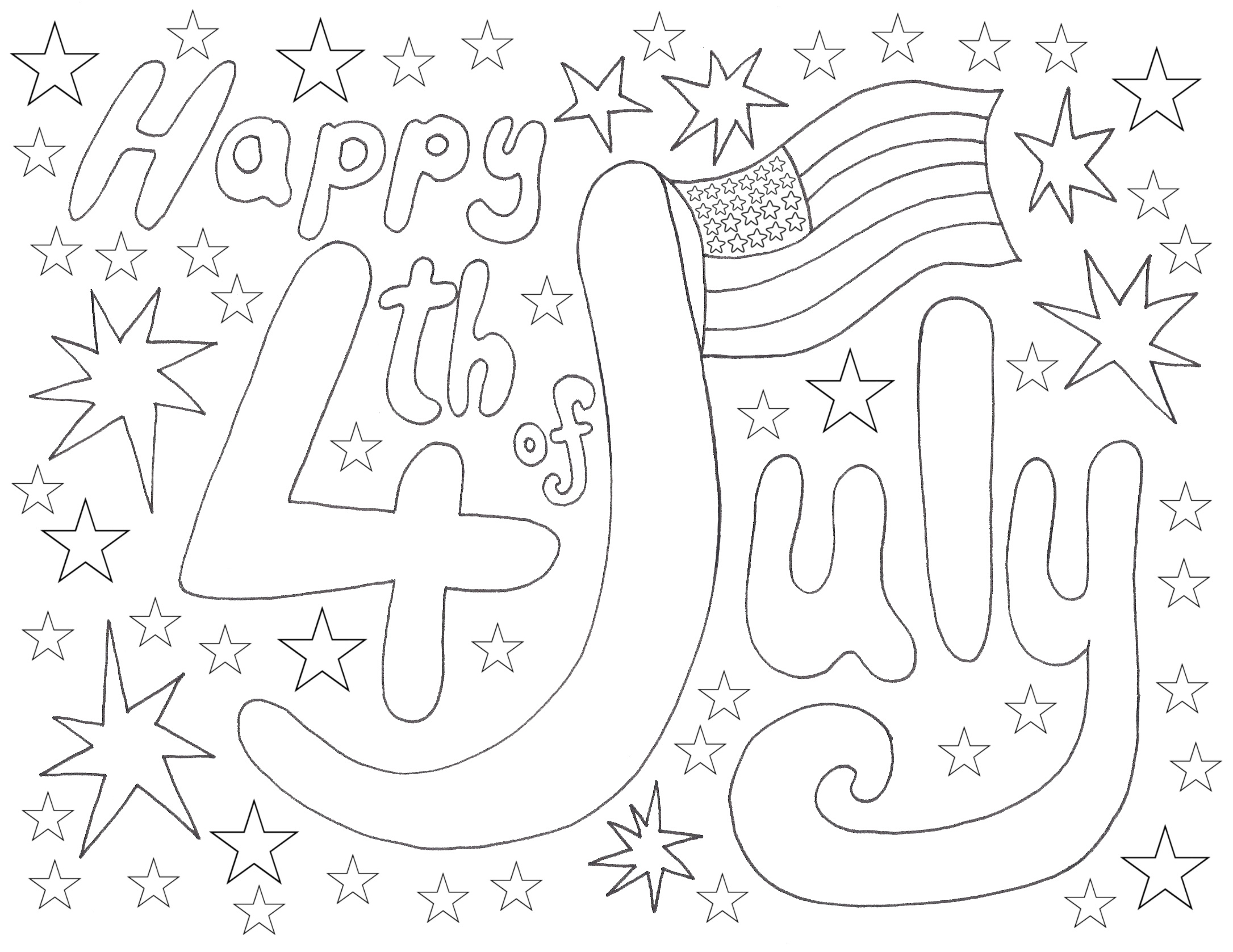 4th July Coloring