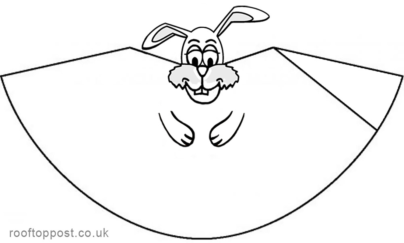 Paper Cone Easter Bunny Colouring Decoration