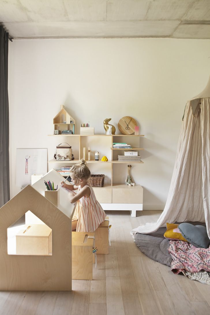 birch plywood and pine in kids rooms   Room to Bloom kutikai birch plywood childrens furniture