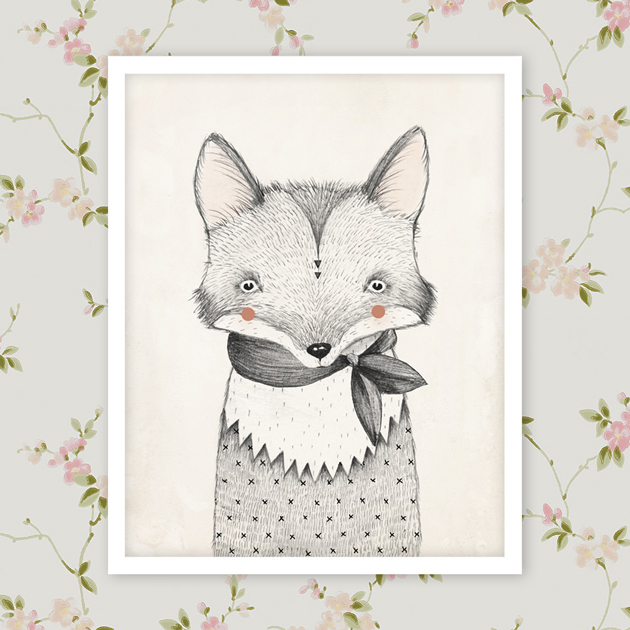 rylee-&-cru-fox-print-on-sandberg kajsa light pink-wallpaper
