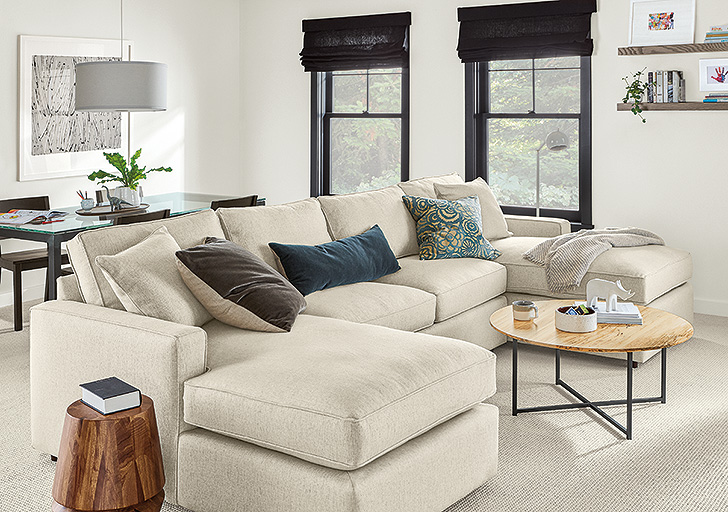 double chaise sectional design ideas